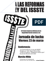 PosterMarchaISSSTE