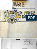 Resume, 20th Air Force Missions