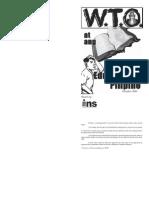 Wto at Ang Edukasyong Pilipino Booklet