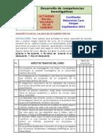 ACTIVIDAD-DIAGNOSTICOvaloraciónSABERES-2011
