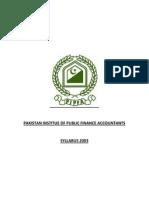 PIPFA Syllabus