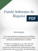 Apresentaçao Fundo Soberano de Riquesa