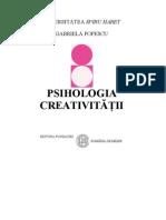 Gabriela Popescu - Psihologia Creativitatii