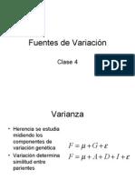 Clase 4- Fuentes de Variacion