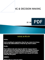 Planning Decision Making