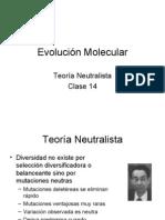 Clase 14 -Evolución Molecular_Neutralista
