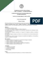 1era Circular II Jornadas Internacionales de Lenguas Extranjeras Centro de Idiomas UNL