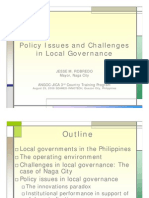 Policy Issues and Challenges in Local Governance