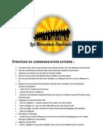 Nouveaux Etudiants - Stratégie de communication externe