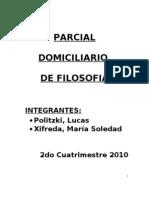 Segundo Parcial Domiciliario de Filosofía - UnLaM