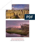 Oxbridge Advice Booklet 2011