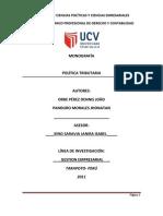 Monografía Politica Tributaria