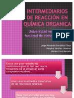 Intermediarios de Reaccion en Quimica Organica