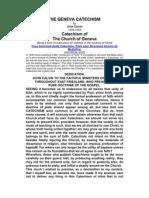 Catecismo de Genebra-Em inglês