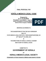 Kerala Medico legal Code - Proposal
