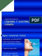 liquidos y electrolitos en cirugía