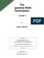 "The ""Japanese Reiki Techniques"" Level 1"