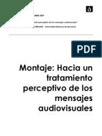 Montaje - Hacia Un Tratamiento Perceptivo de Los Mensajes Audiovisuales