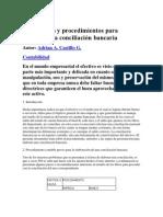 Métodos y procedimientos para elaborar una conciliación bancaria