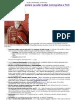 Dez Dicas Fundamentais Para Formatar Monografia e TCC