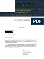 All UFO documents from the Executive Office of the President, Office of Science and Technology Policy