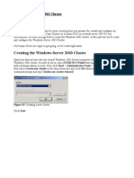 Creating Windows 2003 Cluster
