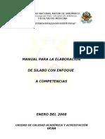 Manual de Elaboracion de Silabo Por cia