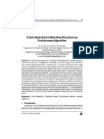 Crack Detection in Machine-Structure by Evolutionary Algorithm