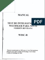 ManualTestdeInteligenciadeWechslerparaNi Os WISC R