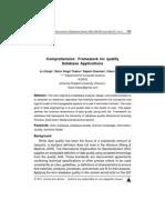 Comprehensive Framework for quality Database Applications
