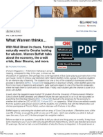What Warren Thinks... - Apr..