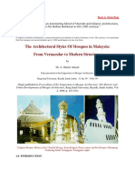 The Architectural Styles of Mosques in Malaysia