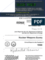 Nuclear Weapons Surety Report to the President,  1988