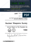Nuclear Weapons Surety Report to the President, 1989