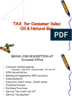 Tax for Consumer Sales Oil and Natural Gas