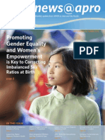September-October 2011, Promoting Gender Equality and Women's Empowerment is Key to Correcting Imbalanced Sex Ratios at Birth