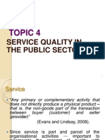 Topic 4 - Service Quality