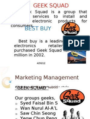 GEEK SQUAD Completed) | Advertising | Social Networking Service