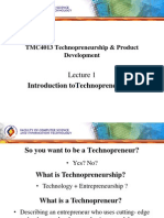 Lecture 01 Introduction to Technopreneurship
