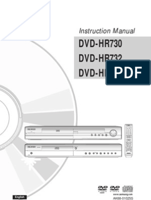 Samsung DVD-HR734 Recorder Manual English (HR730_XSS