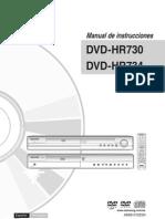 Samsung DVD-HR734 Recorder Manual Spanish (HR730_XEC-IB_0911)