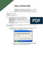 SOP_ Install Office 2003