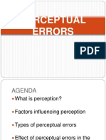 Perceptual Errors Ppt