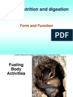 1. Animal Nutrition and Digestion- Form and Function