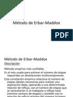 Método de Erbar-Maddox