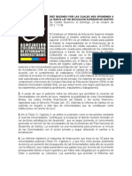 Diez Razones Por Las Cuales Nos Oponemos a La Nueva Ley de Educacion Superior de Santos