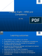 Chapter 8 – HRM and Competency