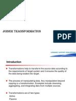 Joiner Transformation