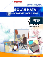 Modul Latihan Microsoft Office Word Untuk SMP Kelas 8