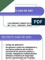 DECRETO 2463 DE 2001 COMPLETO